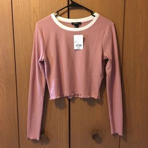 3/$20 Forever 21 Pink Cropped Long Sleeve